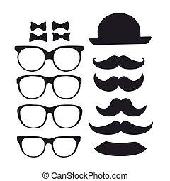 Hipster design over white background, vector illustration