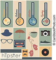 Hipster design season set