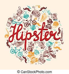 hipster, fond