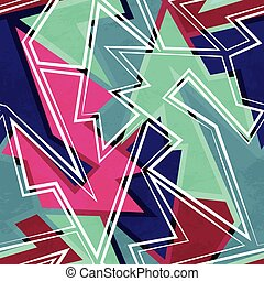 hipster geometric seamless pattern