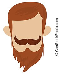 hipster hairstyle with mustache