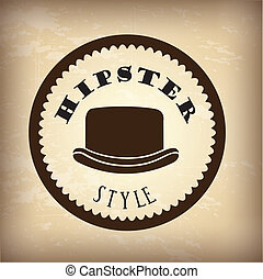 hipster - hipster design over vintage background vector...
