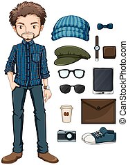 hipster, homme