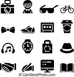 hipster, icônes