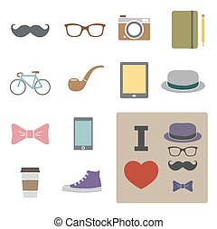 hipster icon