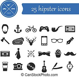 hipster, iconen