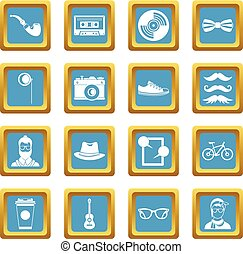 Hipster icons azure