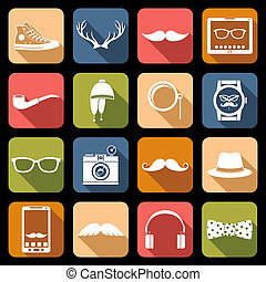 Hipster Icons Flat