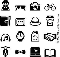 Hipster Icons set Vector Illustration