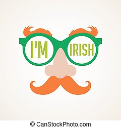 hipster Irish man for St. Patricks day