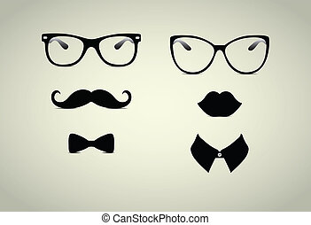Hipster Lady and Gentleman Icohs - Hipster Lady and ...