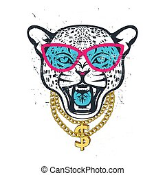 HIPSTER leopard print for t-shirt