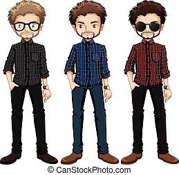 hipster, mężczyźni