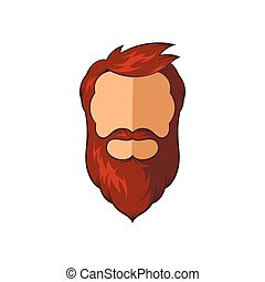 Hipster man icon, cartoon style