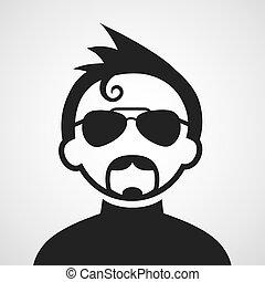 hipster man symbol