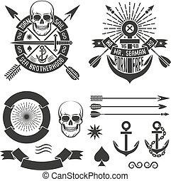 hipster Marine tattoo