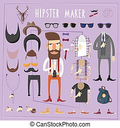 Hipster master creative constructor set