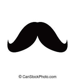 hipster mustache on white background
