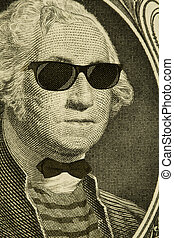 Hipster Nerd George Washington - Serious hipster nerd George...