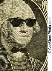 Hipster Nerd George Washington - Serious hipster nerd George...