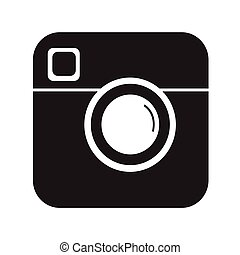Hipster Photo camera Icon Illustration design
