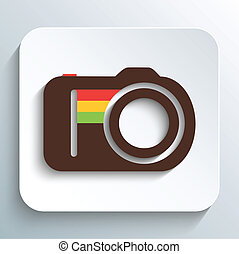 Hipster photo or camera icon
