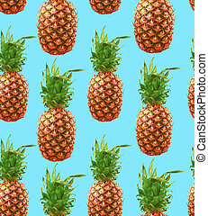Hipster pineapple seamless pattern background