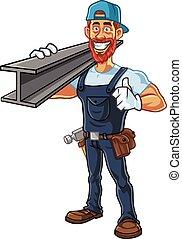 Hipster Repairman Cartoon