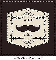 hipster, retro, moustache