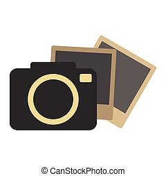 Hipster retro photo camera icon