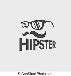 hipster, retro, vecteur, conception, gabarit