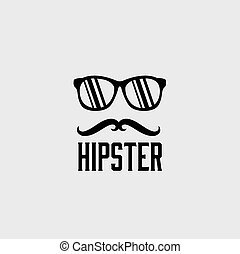 hipster retro vector design template