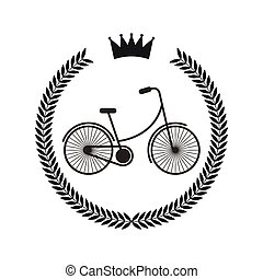hipster, stile, ghirlanda, cornice bicicletta