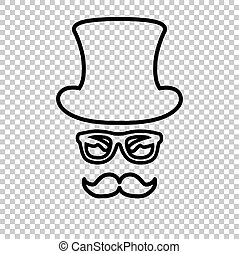 Hipster style accessories design