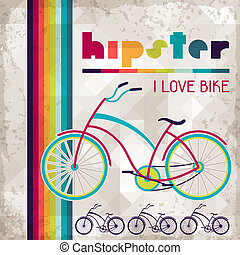 hipster, style., achtergrond, retro