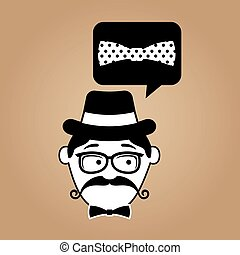 hipster style bow tie with dots