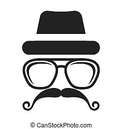 hipster style face icon