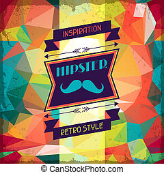 hipster, style., fond, retro