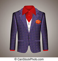 Hipster suit of mens clothing with an elegant tailored blue...