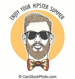 Hipster Summer Emblem