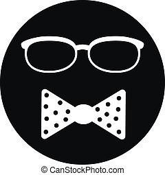 Hipster symbol icon
