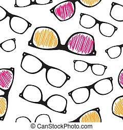 Hipster symbols background Pattern for fabric design, packaging