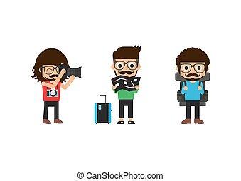 hipster, turista