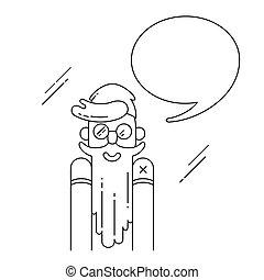 Hipster vector illustration.