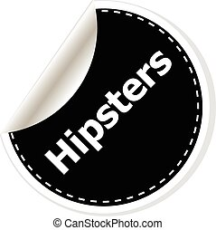 hipsters black and white button, like counter notification icon, vector illustration