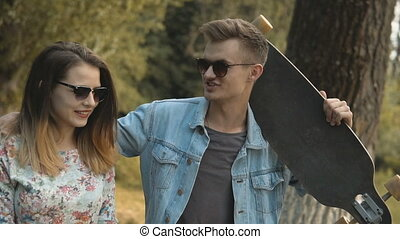 Hipsters Couple Walking