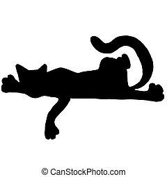 Hiqh quality original illustration of relaxing cat