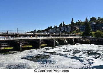 Hiram M Chittenden Ballard Locks in Seattle