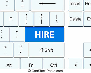 Hire blue keyboard button