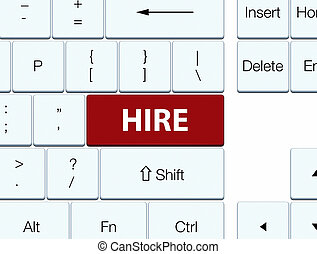 Hire brown keyboard button